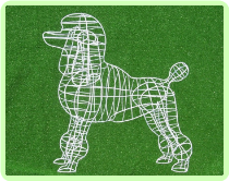 Poodle (Mesh) Animal Topiary Frame
