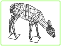 Doe Animal Topiary Frame