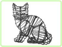 Kitten, Sitting Animal Topiary Frame