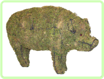 Pig Animal Topiary Frame