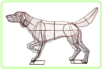Pointer Animal Topiary Frame