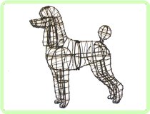 Poodle Animal Topiary Frame