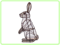 Rabbit, Sitting Upright Animal Topiary Frame