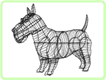 Scottie Animal Topiary Frame