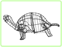 Turtle Aquatic Animal Topiary Frame