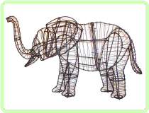 Elephant Animal Topiary Frame
