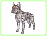 Boston Terrier Animal Topiary Frame