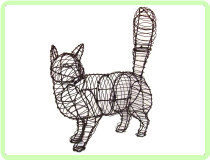 Cat, Walking Animal Topiary Frame