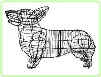 Corgi Animal Topiary Frame