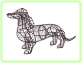 Dachshund Animal Topiary Frame