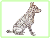German Shepherd Sitting Animal Topiary Frame