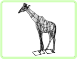 Giraffe Animal Topiary Frame