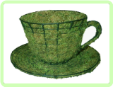 Teacup & Saucer Topiary Frame