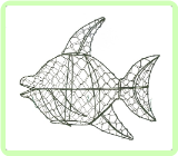 Angel Fish Aquatic Animal Topiary Frame
