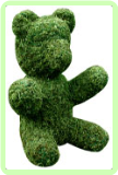 Bear Sitting Animal Topiary Frame Custom made to your specifications call for price.