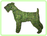 Airedale Dog Animal Topiary Frame Moss