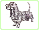 Basset Hound Animal Topiary Frame