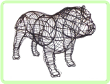 Bulldog Animal Topiary Frame