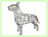Bull Terrier Animal Topiary Frame