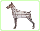 Doberman Animal Topiary Frame