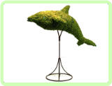 "Dolphin Aquatic Animal Topiary Frame 33"" x 36"" x 17"""
