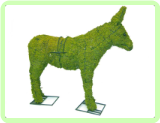 "Donkey Animal Topiary Frame 18"" x 20"" x 6"""