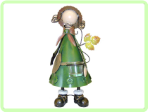 Faceless Girl with Leaves By George Topiary Frame