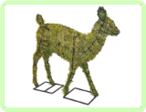"Fawn Animal Topiary Frame 25"" x 27"" x 7"""