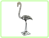 Flamingo Animal Topiary Frame