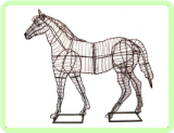 Horse Animal Topiary Frame