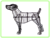 Jack Russell Animal Topiary Frame