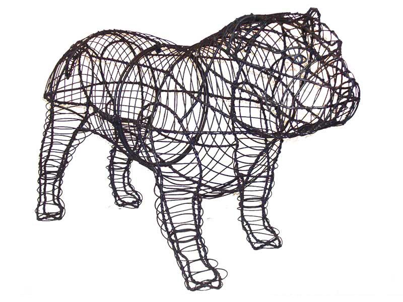 Bulldog Animal Topiary Frame