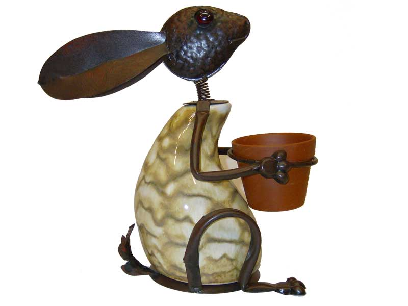 Bunny with Pot By George 14\