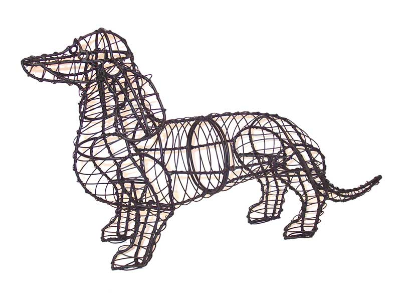 Dachshund animal topiary frame for Dog wire art