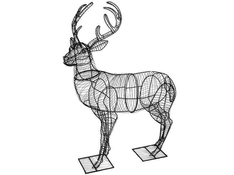 Deer Animal Topiary Frame