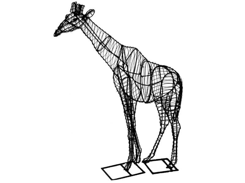Giraffe Animal Topiary Frame
