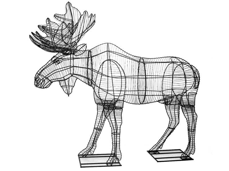 Moose Animal Topiary Frame