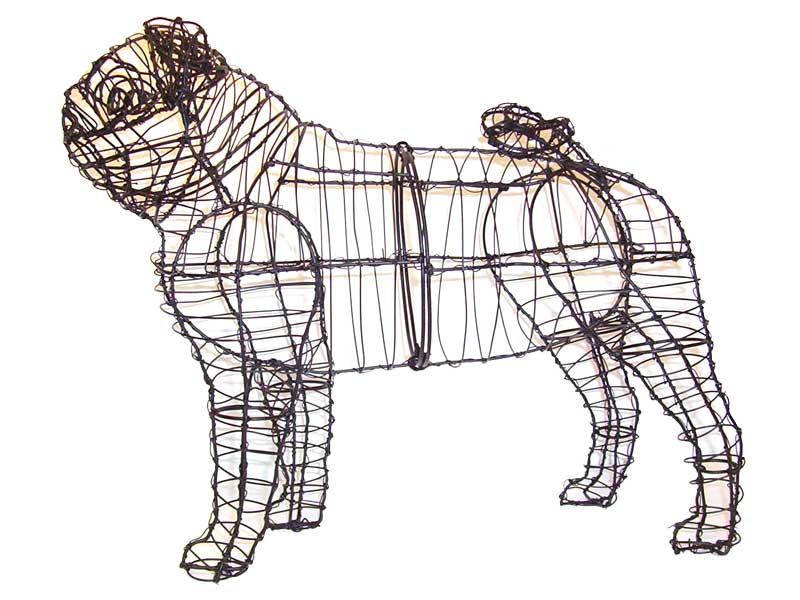 Pug Animal Topiary Frame