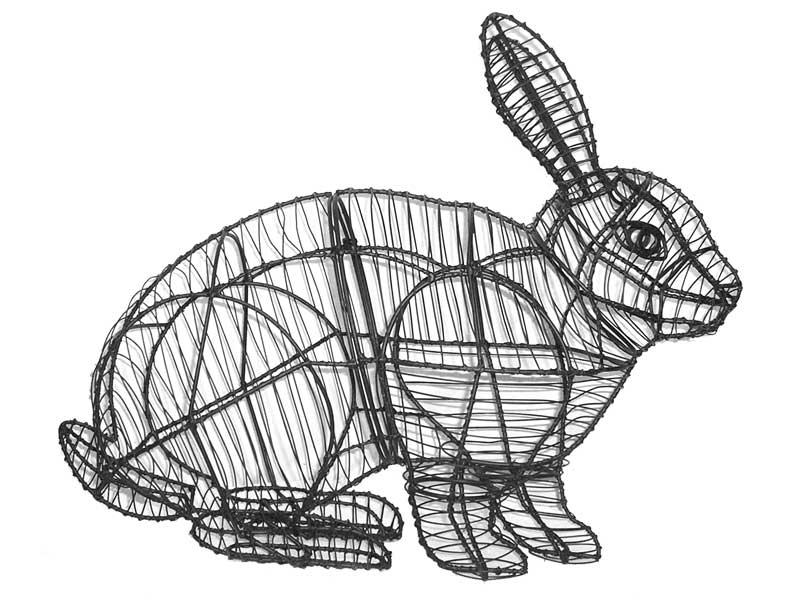 Rabbit, Hopping Animal Topiary Frame